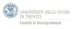 Logo Università di Trento Dipartimento Giurisprudenza